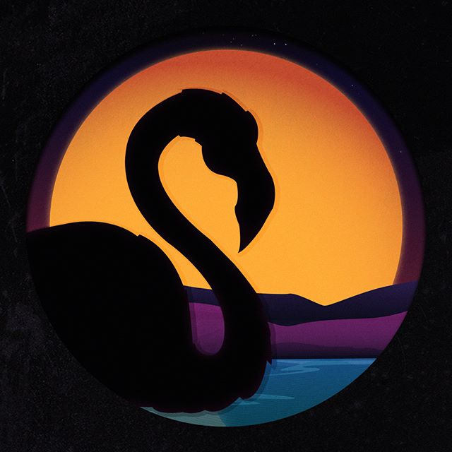 Still working on this #synthwave #flamingo. I like it but I feel like something is missing. it's not quite there. #outrun #80saesthetic