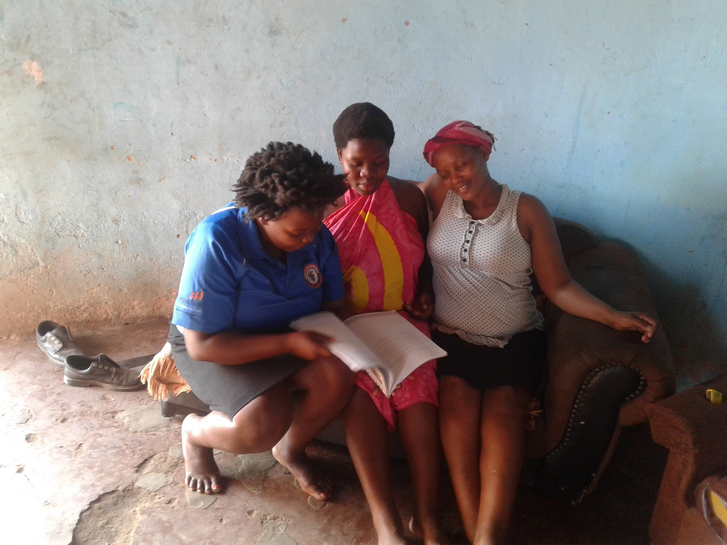 A community health nurse working with two pregnant women