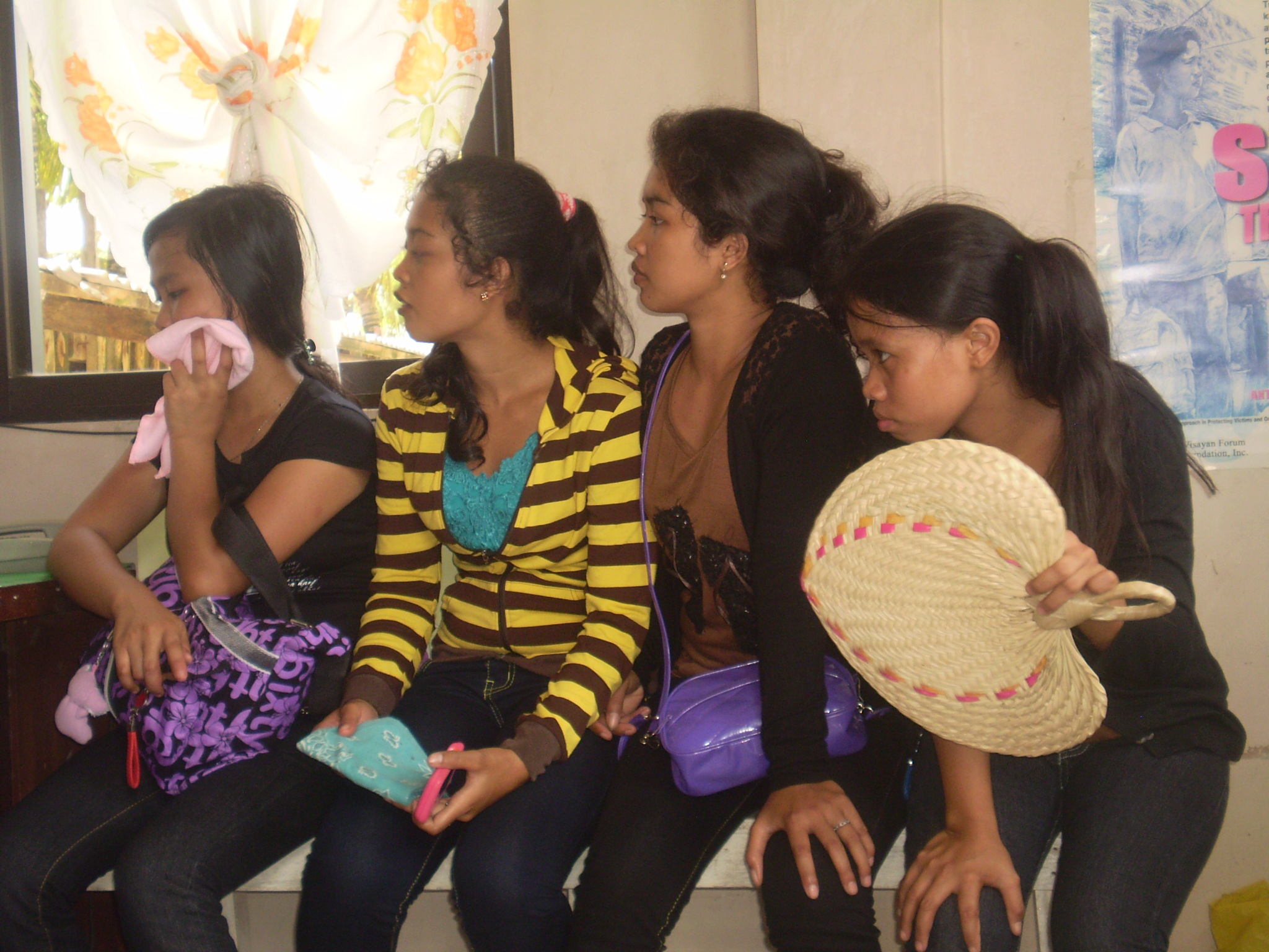 Teenage girls intercepted by the anti-trafficking taskforce, Northern Samar, Philippines