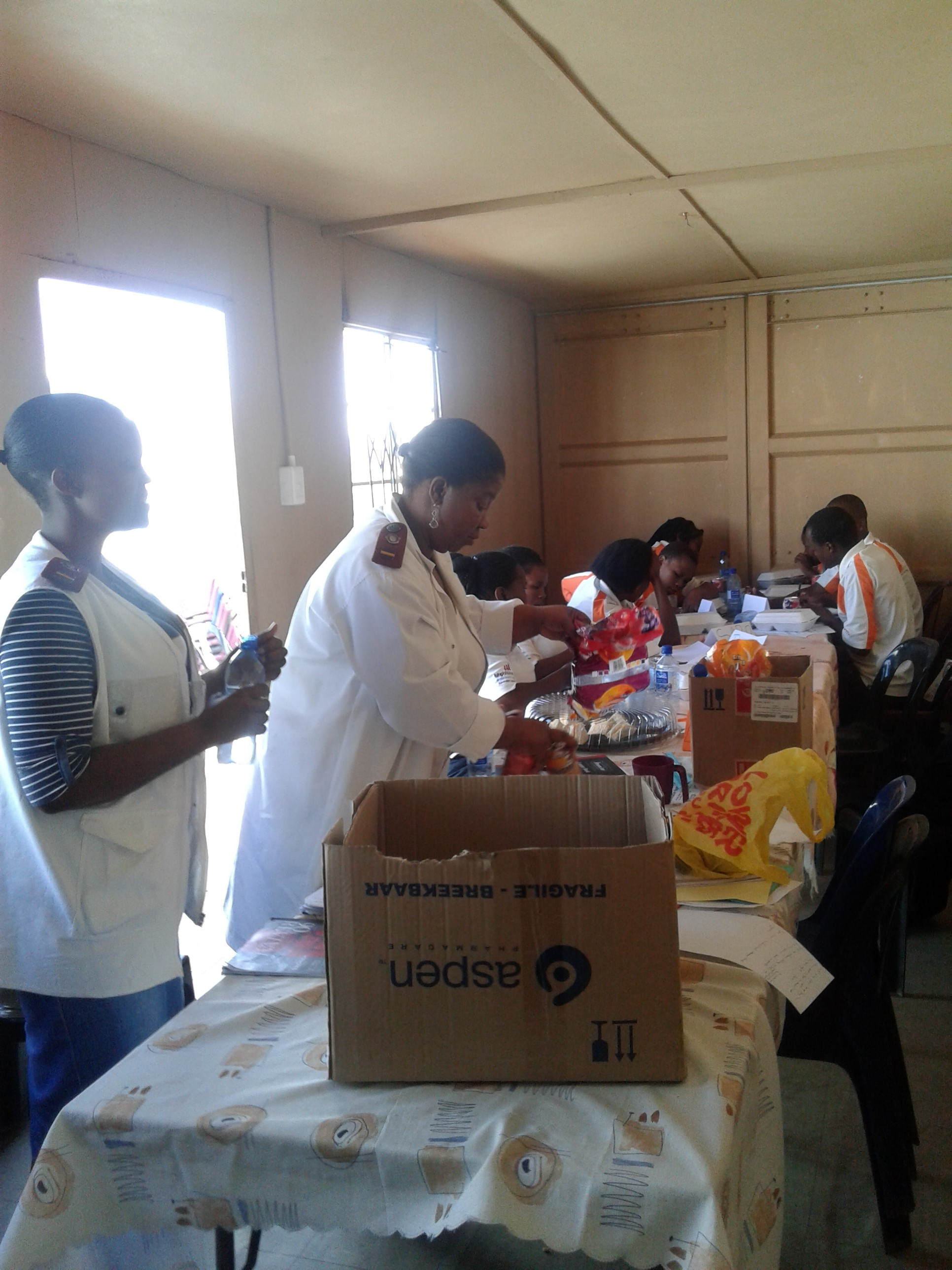 Lihle's team of volunteers received additional training from hospital medical staff