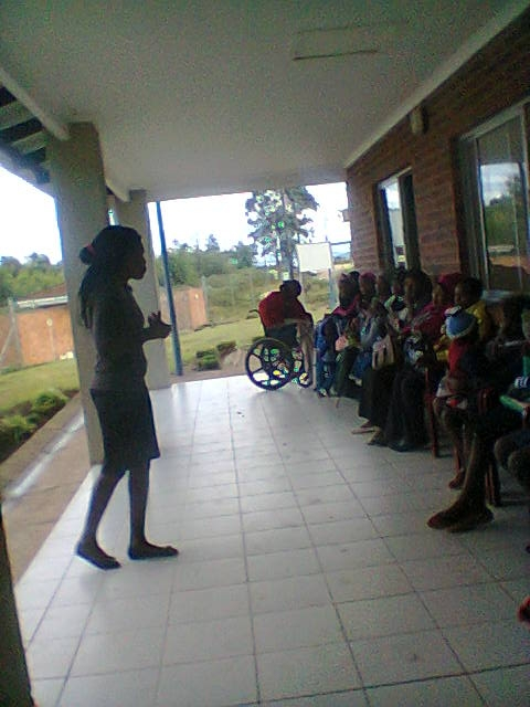 The team were then able to support the new and expectant mothers as they receive healthcare at the local clinic.