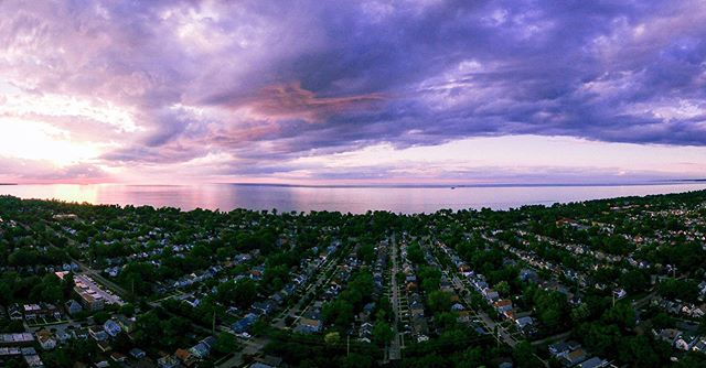 "some sunsets say ""hey, why don't you just grab a little 'panoram' of me and then crank the bujeebis out of the saturation, there it is, that's nice, thanks bub."" #sunsetpanorama #sunset #thisiscle"