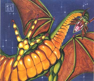 Shivan Dragon; one of the most iconic illustrations from the original run of Magic: The Gathering.