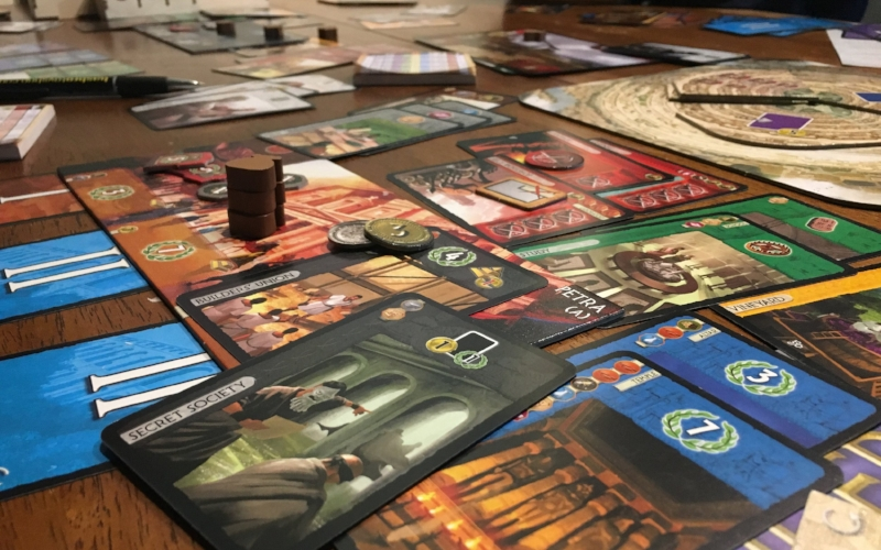 While the game feels intuitive as you play more, 7 Wonders can feel like a lot to manage for an inexperienced player, a feeling intensifies exponentially as you add more expansions as shown above. Bottom line, learn from someone else, and start people on the base game alone and you'll be in great shape!