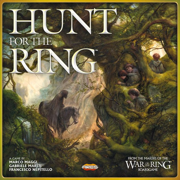 Hunt for the Ring - Video - Hunt for the Ring ReviewVideo - Rook & Record: Hunt for the RingPodcast - TCbH Reviews Hunt for the RingPodcast - Interview with Francesco Nepitello (Co-Designer)Podcast - Interview with Roberto Di Meglio of Ares Games (Publisher)