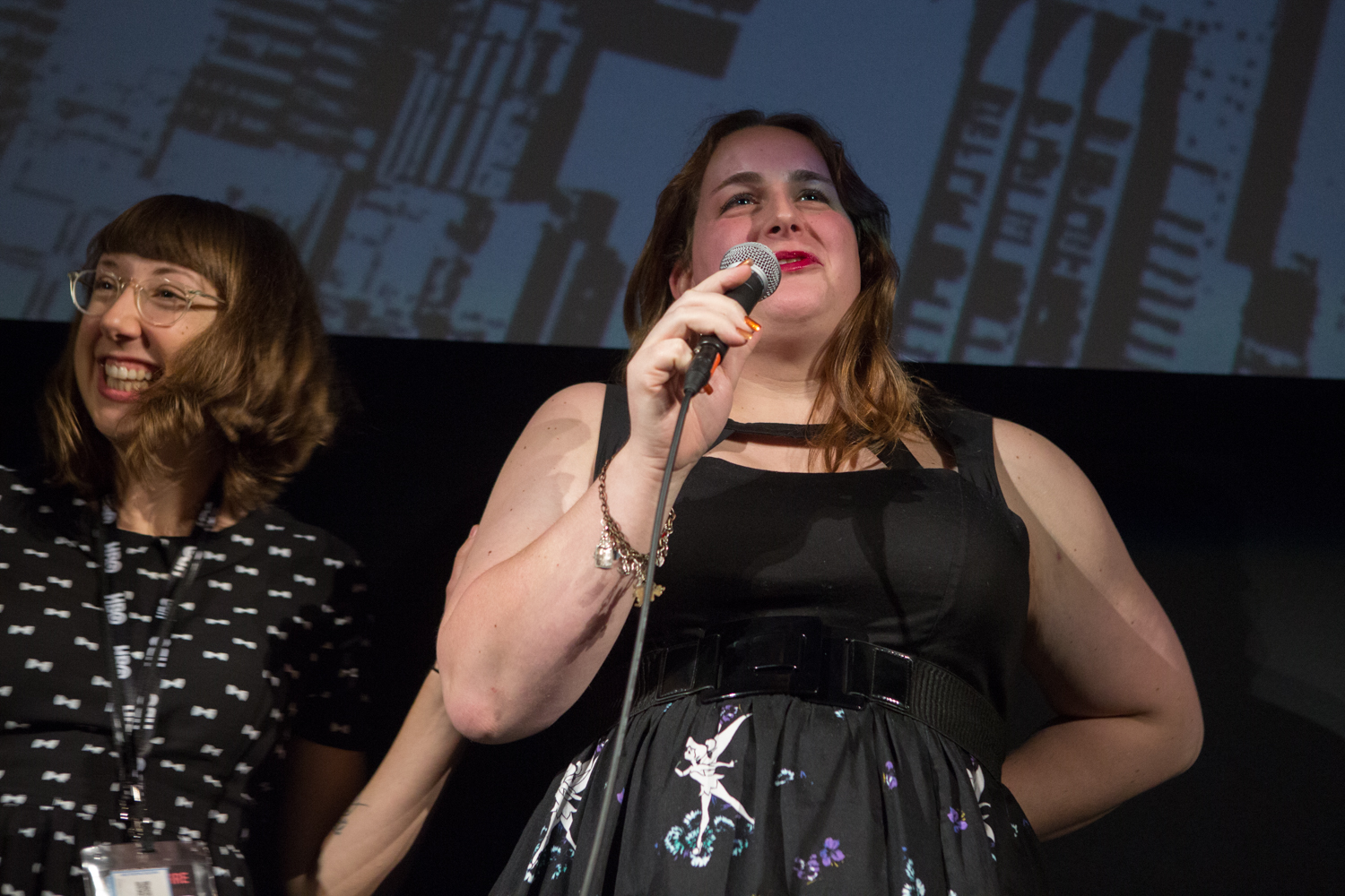 Julie Sokolow (Director) and Brooke Guinan (Subject) speak at DOC NYC for the world premiere of Woman on Fire.