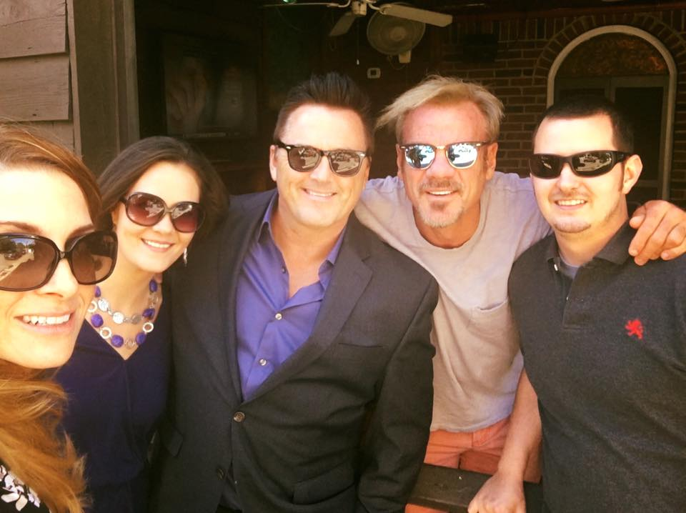 Ran into Phil Vassar while having lunch in Nashville with Jill and TJ of Nashville Entertainment Weekly