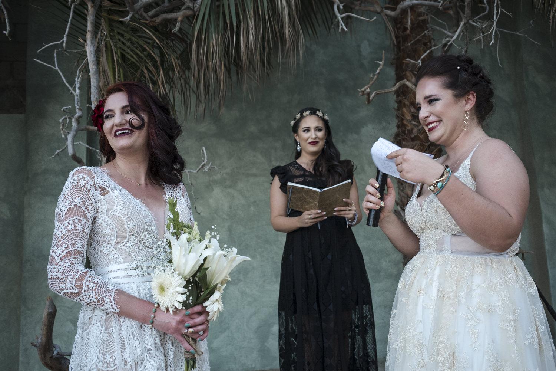 bride and bride vows