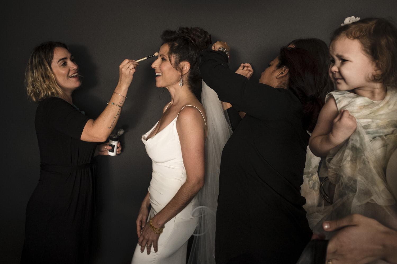 bride getting ready at nizuc