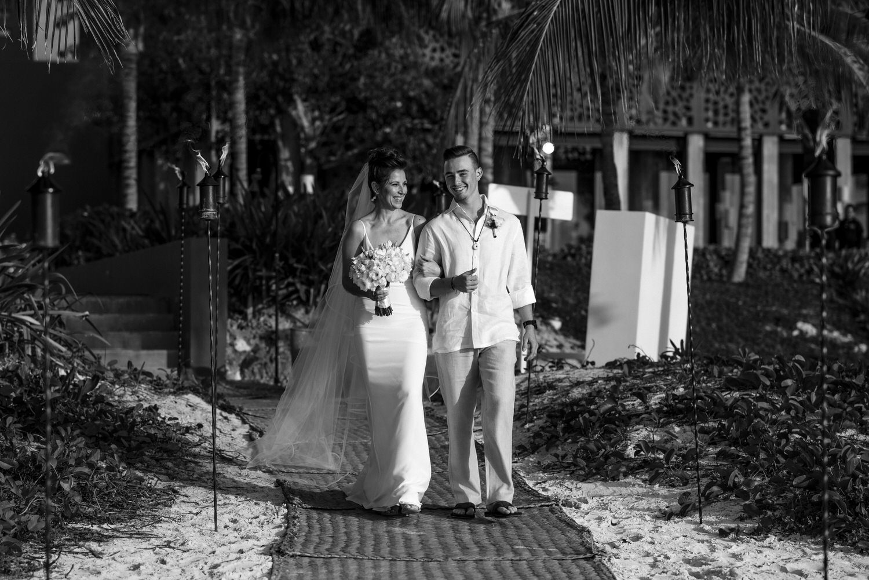 bride entrance nizuc cancun