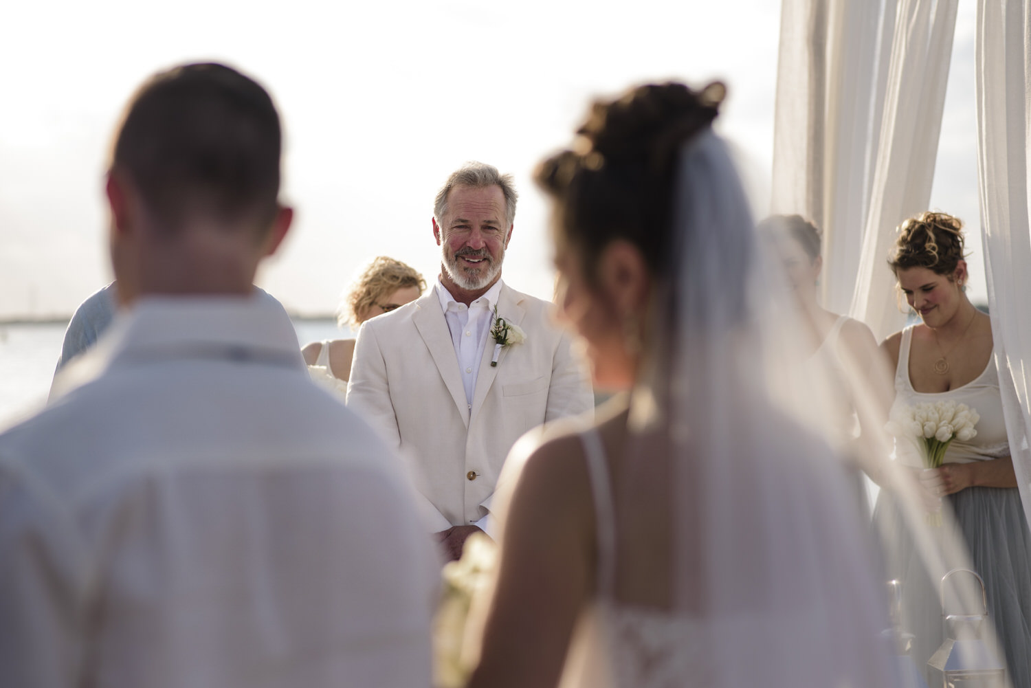 happy groom about to get marry