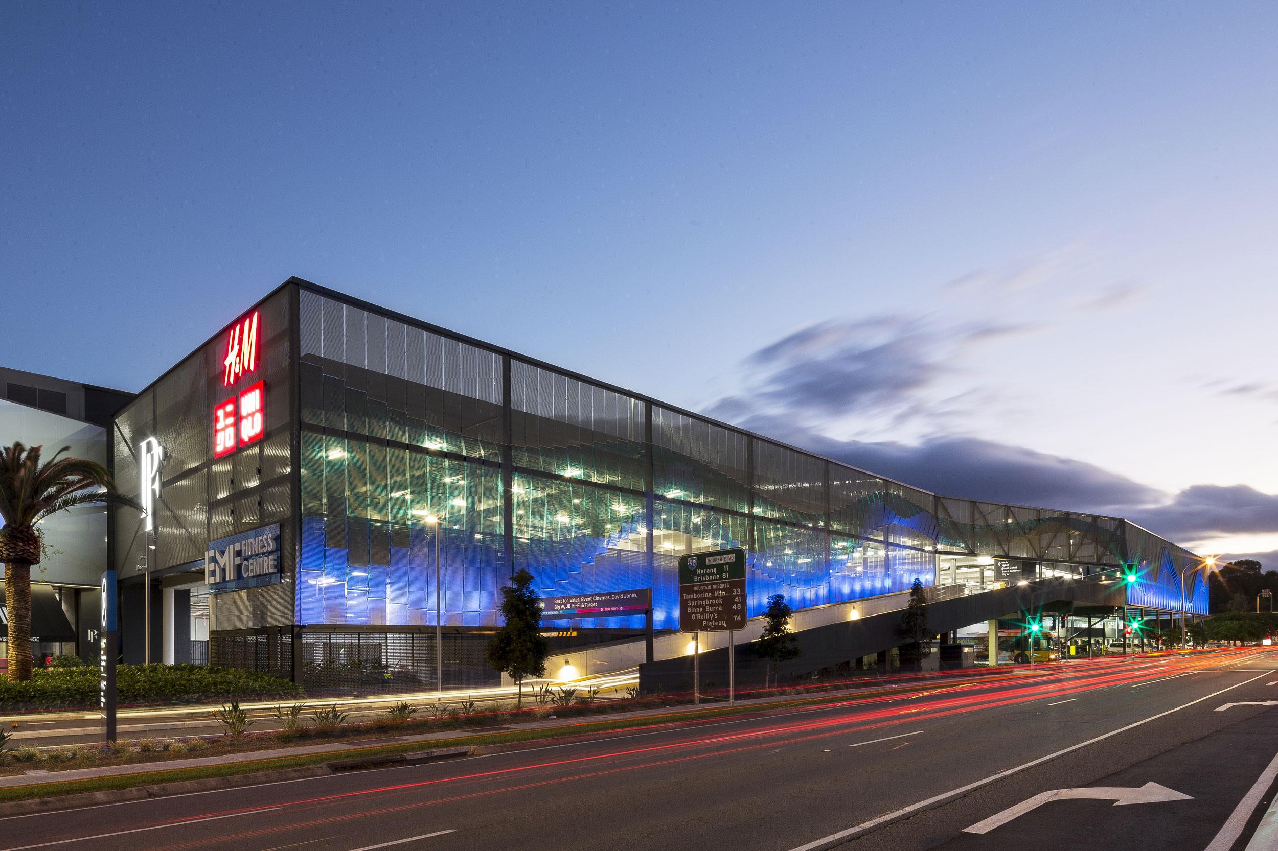 Kaynemaile Armour Carpark Facade for Pacific Fair Shopping Center, Gold Coast, Australia