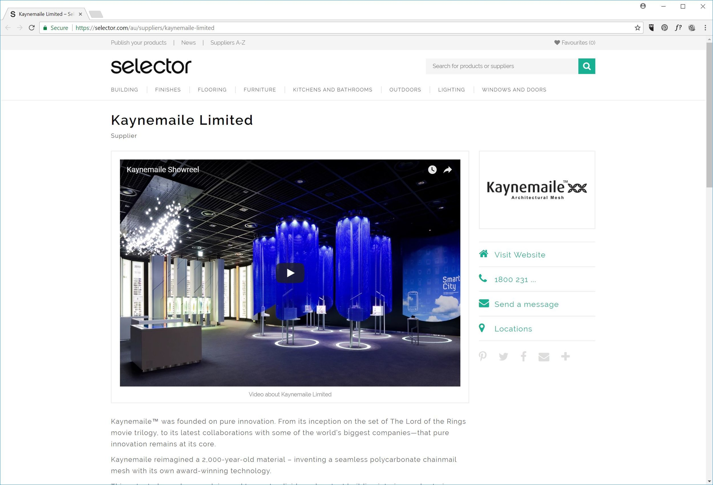 Kaynemaile feature on Selector product library