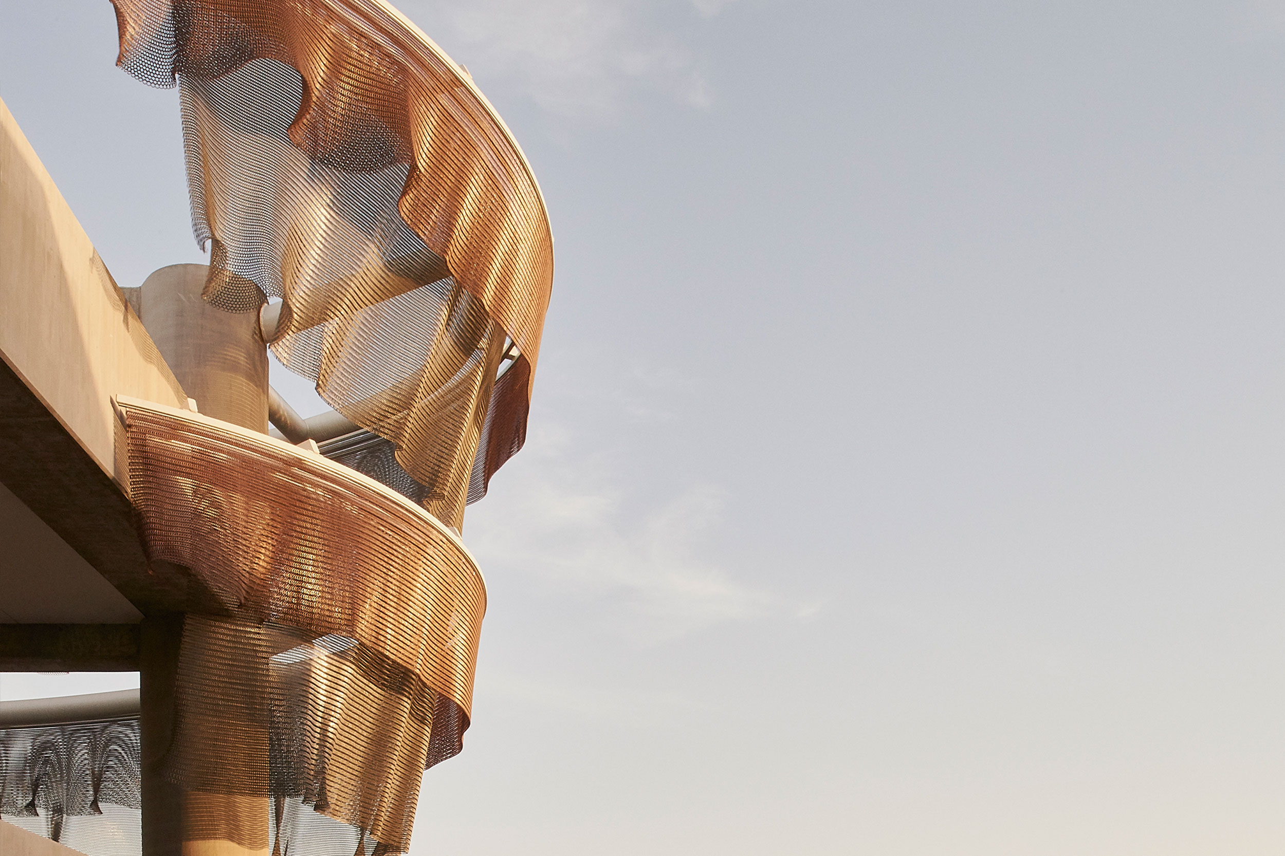 Kinetic Facade—Enagua Plaza at Playa Vista, LA designed by Ned Kahn
