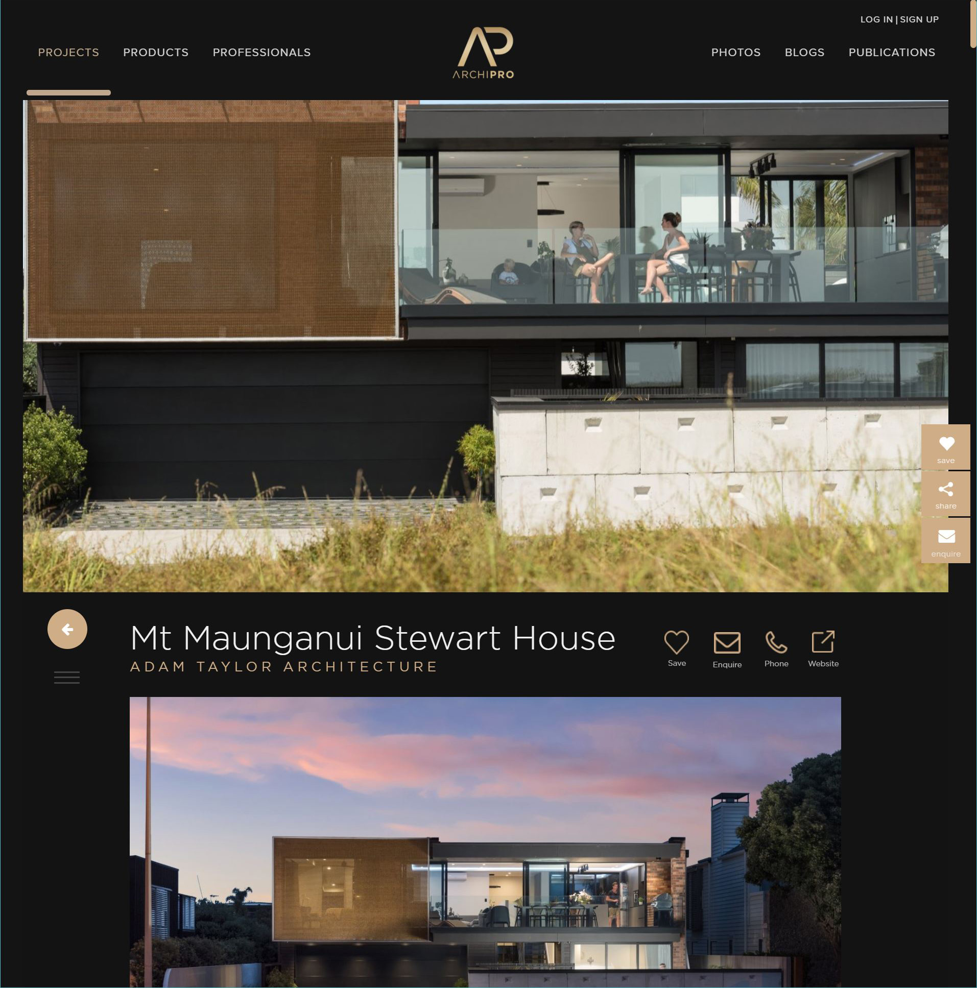 Stewart House Feature on Archipro