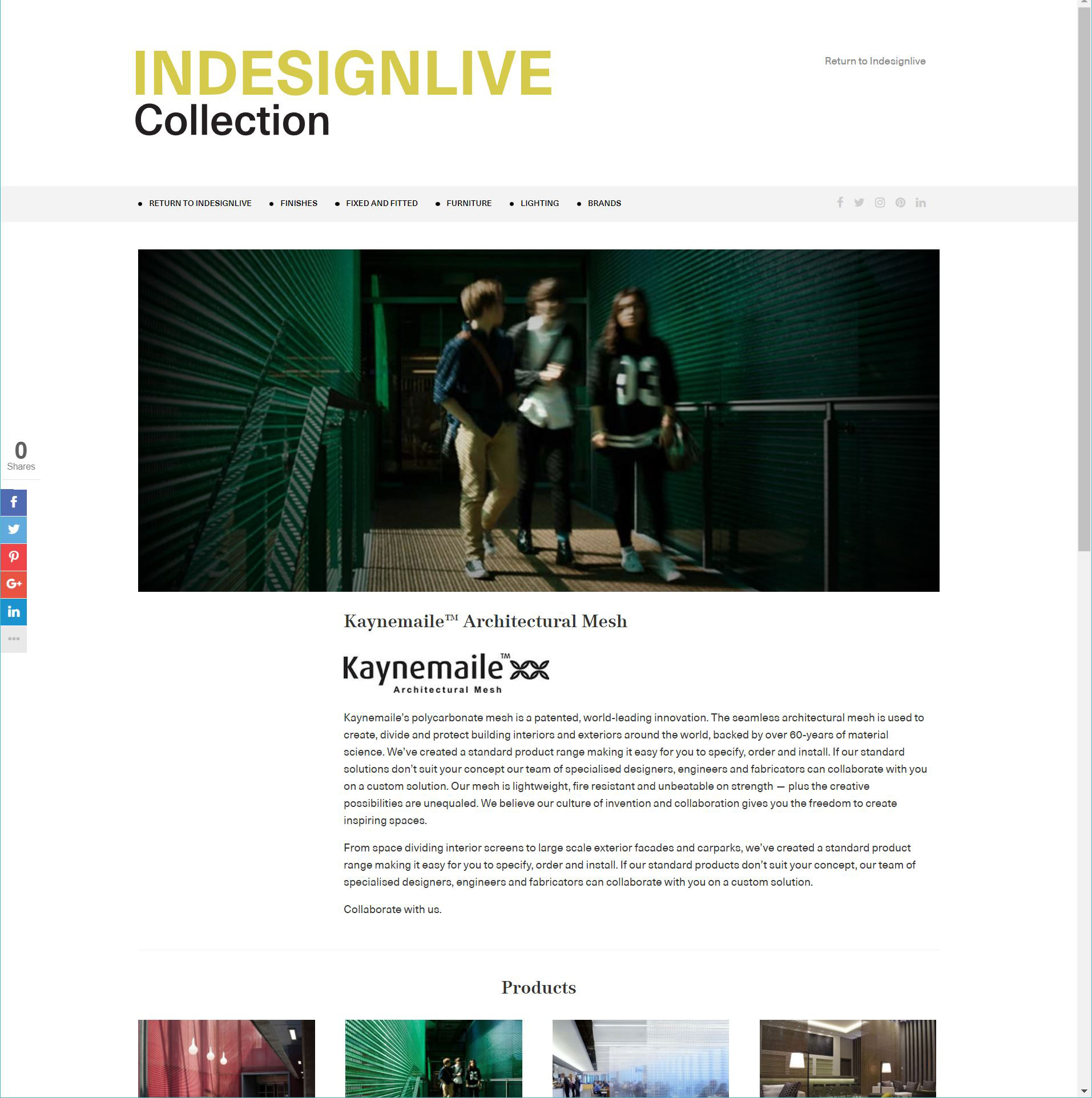 Kaynemaile profile on The Indesign Collection product library