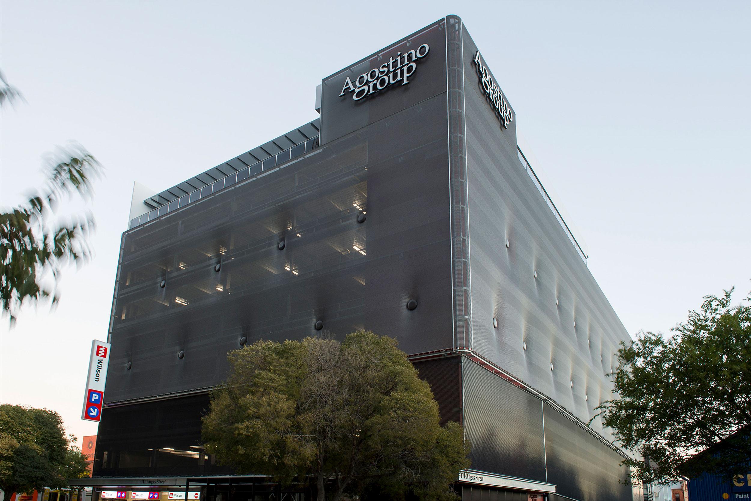 Agostino Group car park facade with Kaynemaile-Armour