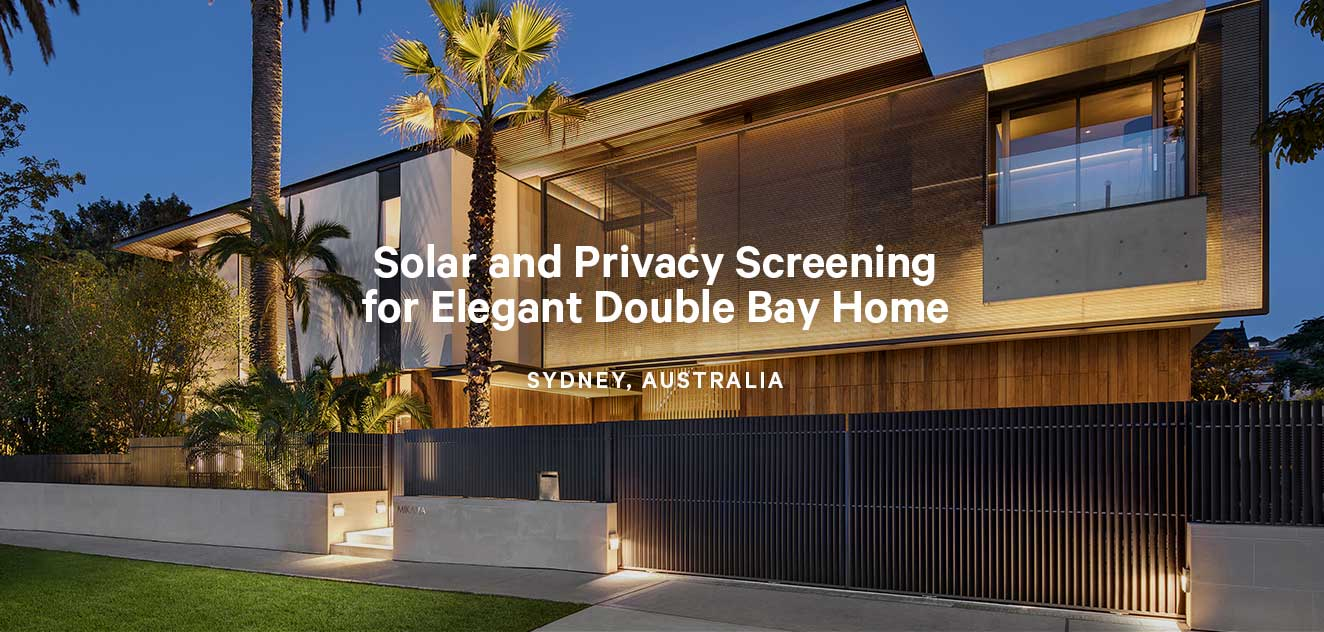 Kaynemaile-Armour Solar Screen for Double Bay Home