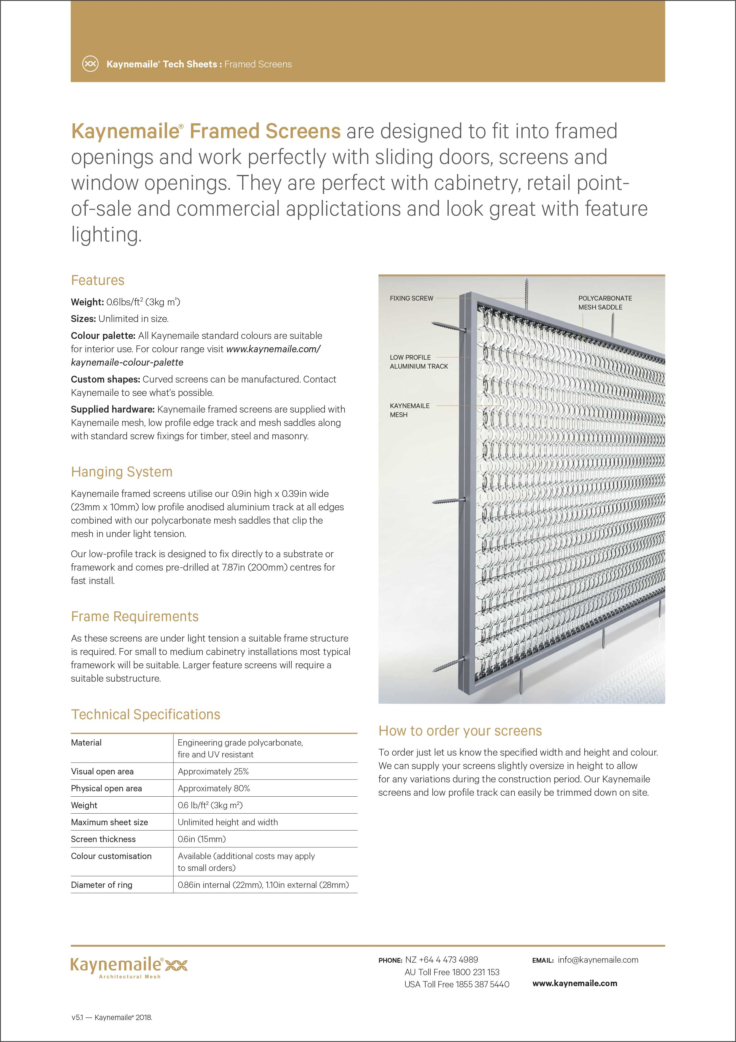 Interior Framed Screen Tech Sheet    Download →