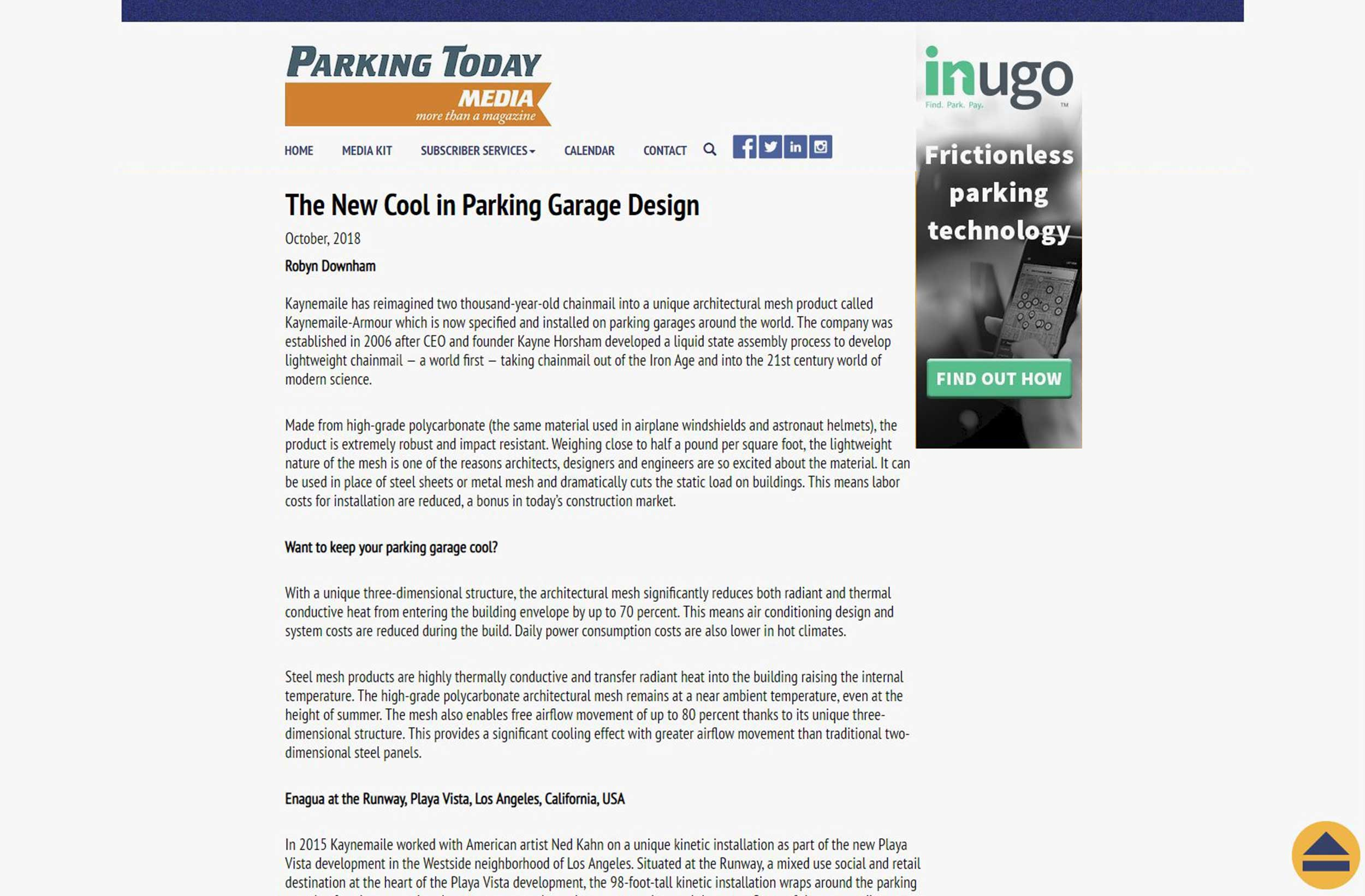 Kaynemaile: The New Cool in Parking Garage Design, Parking Today Media