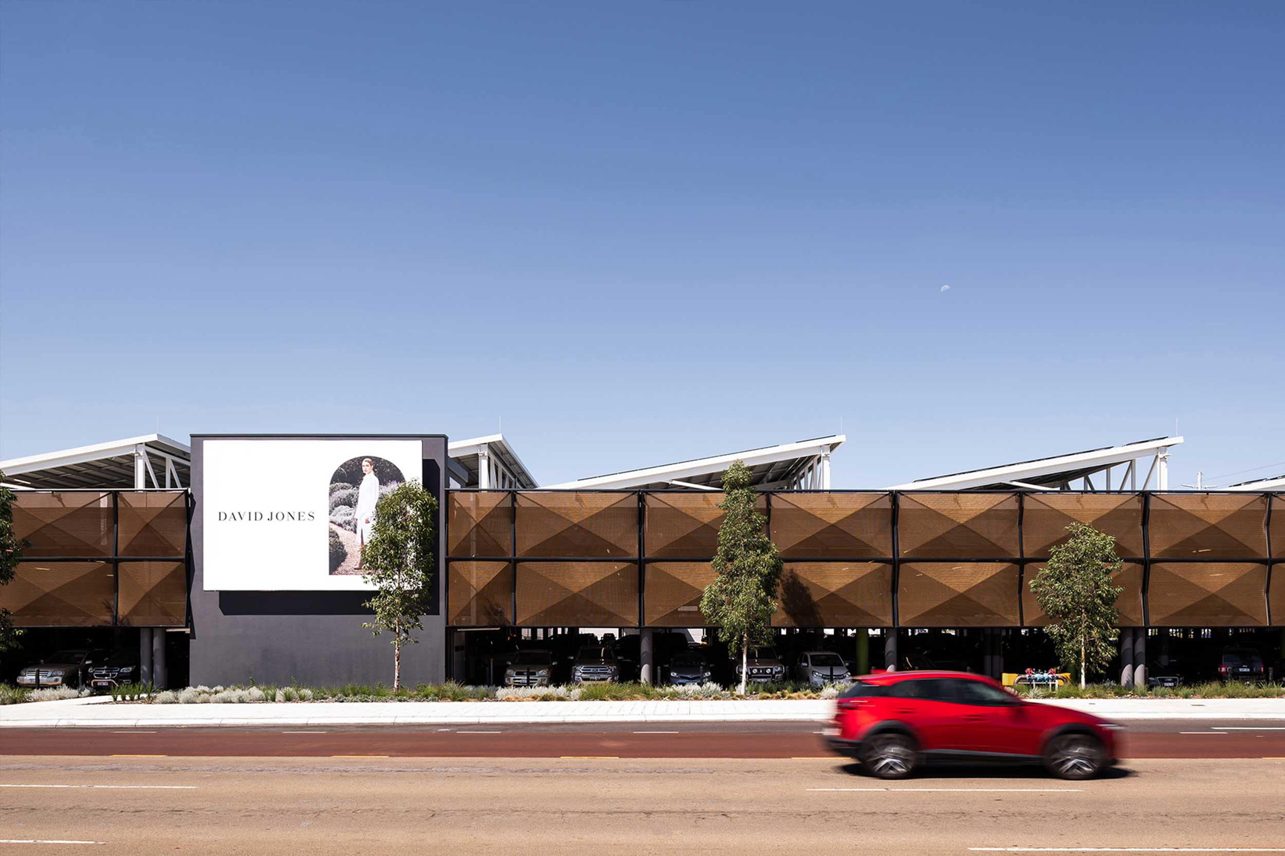 Solar Shading Pyramids for Westfield Carousel Parking Garage  Perth, Australia    View Project →