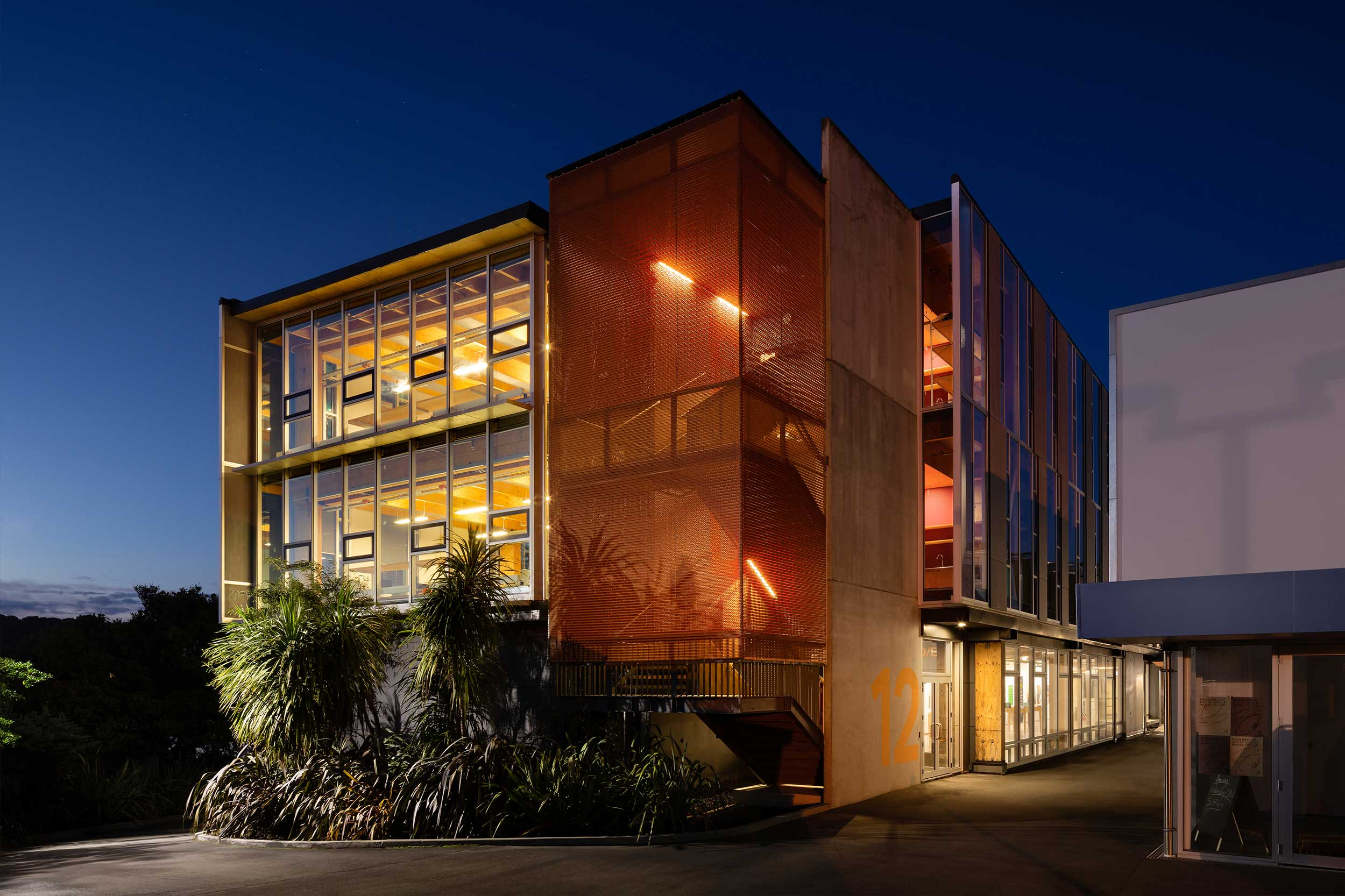 Stairwell Balustrade for College of Creative Arts at Massey University  Wellington, New Zealand    View Project →