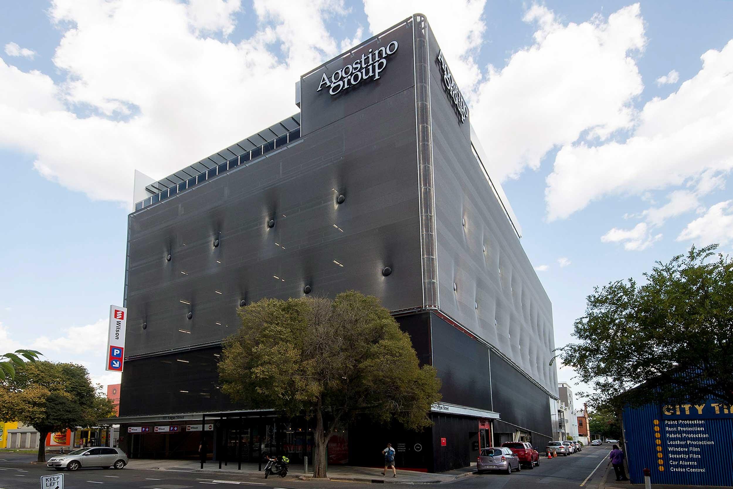 Agostino Group Parking Garage in Adelaide Australia using Kaynemaile mesh