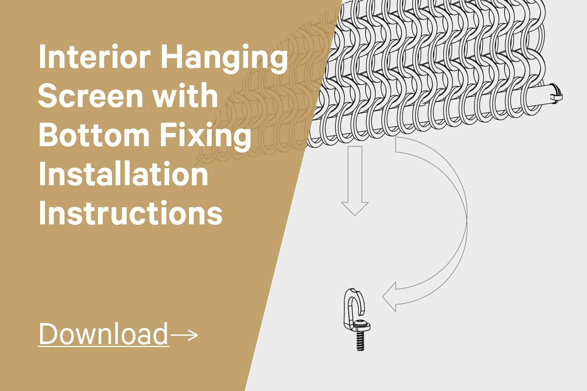 Interior Hanging Screen with Bottom Fixing Installation Instructions