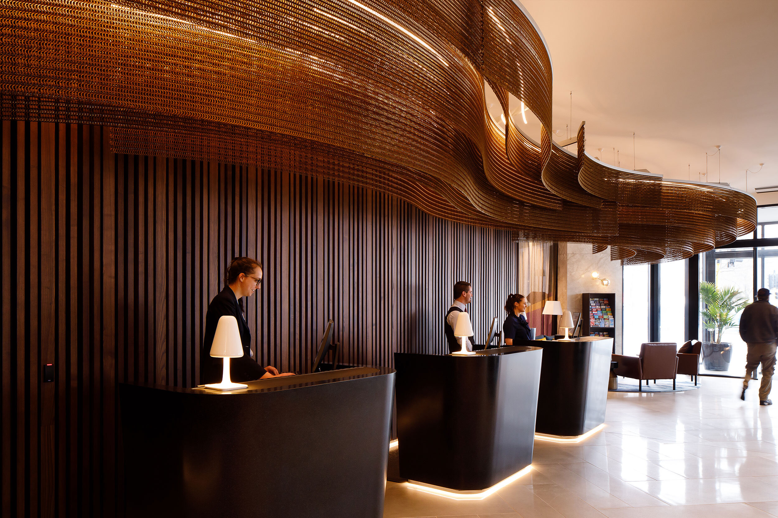 Sculptural Ceiling Feature for Crowne Plaza Hotel  Christchurch, New Zealand