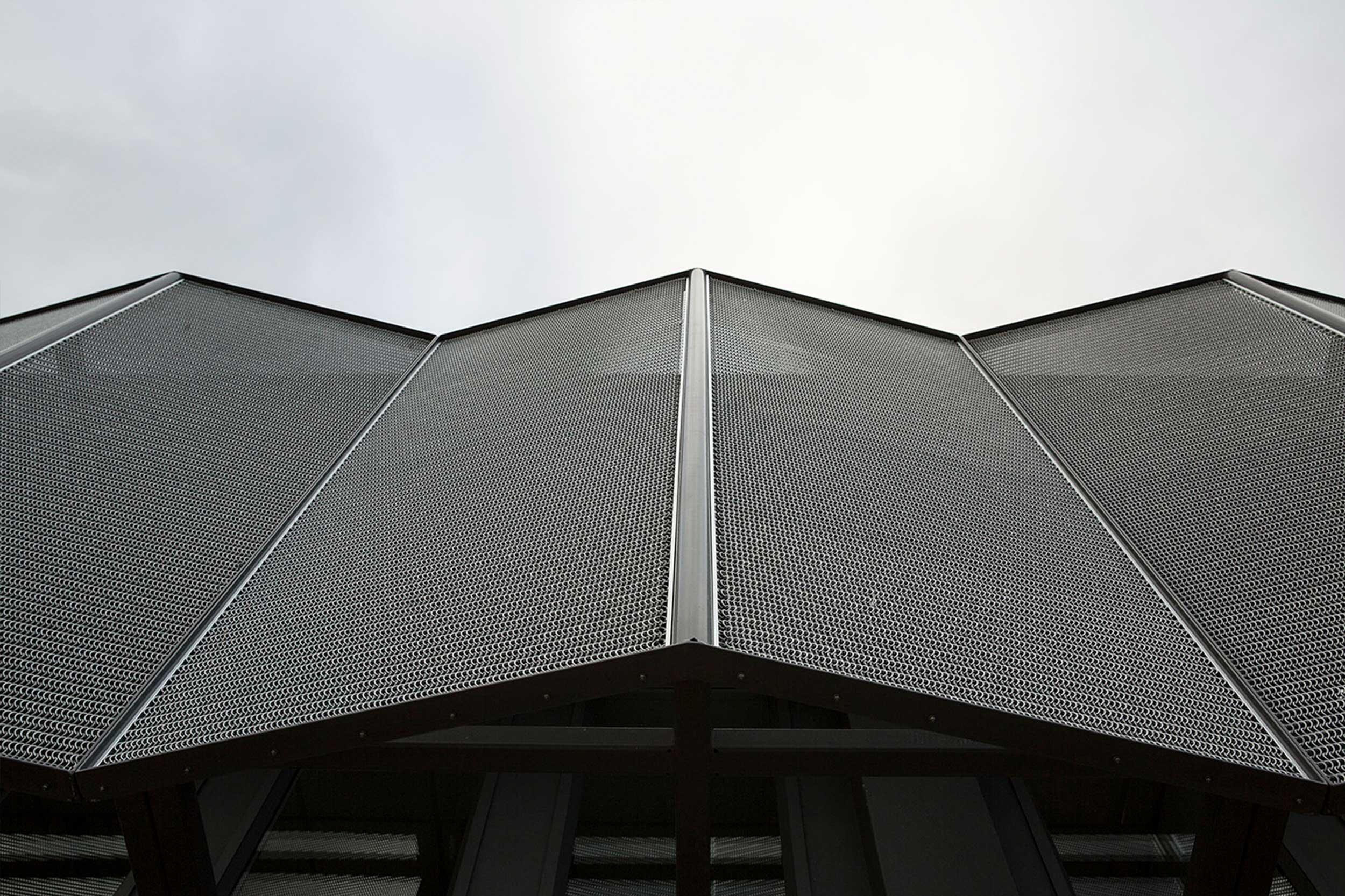 Kaynemaile mesh solar screening for Arthur Holmes Building