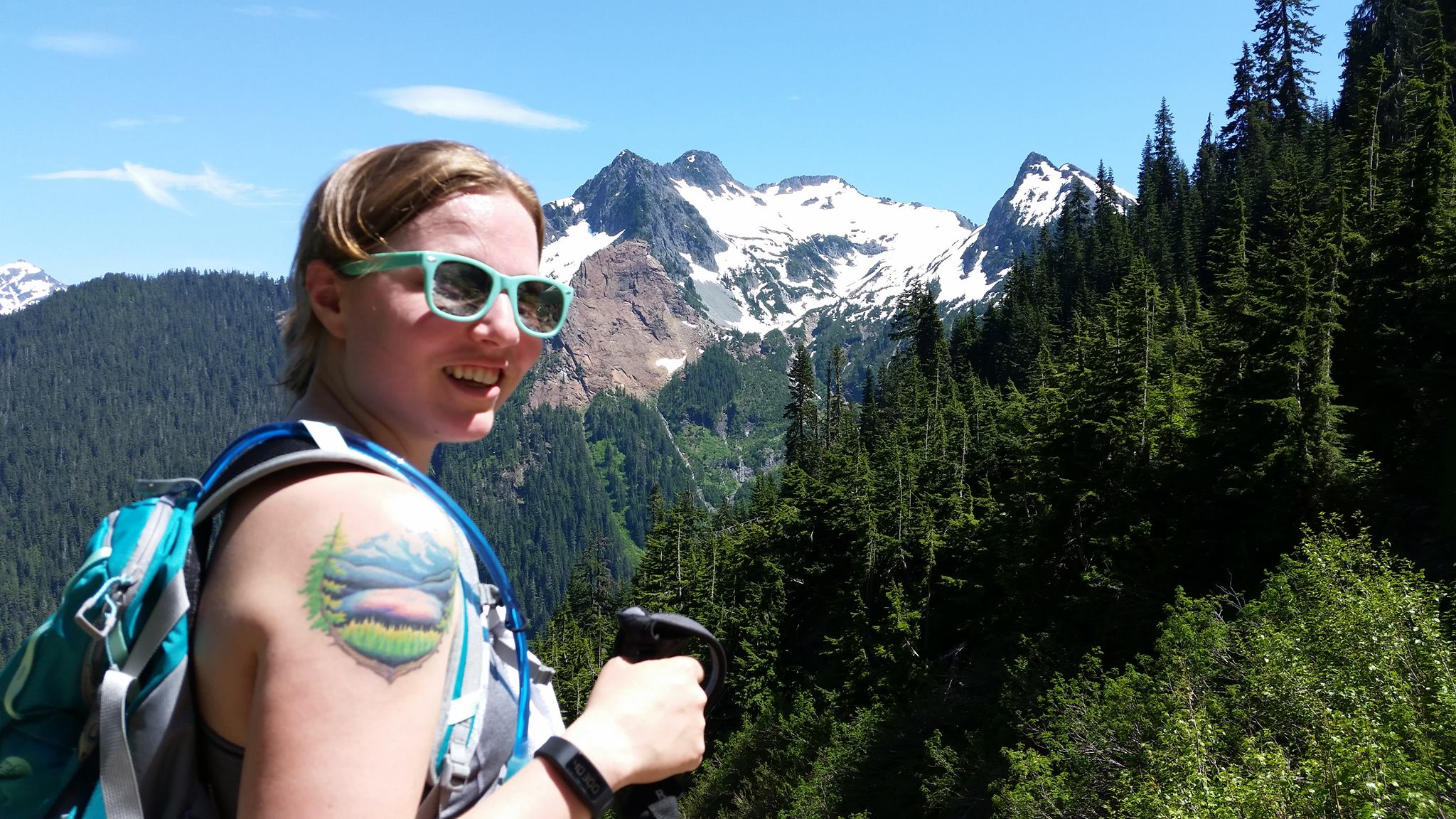 Terrible hair on my very favorite hike