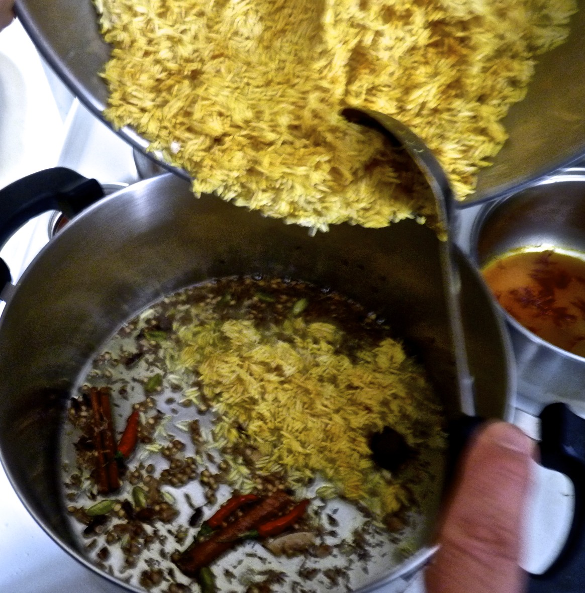 Then stir in the rice.