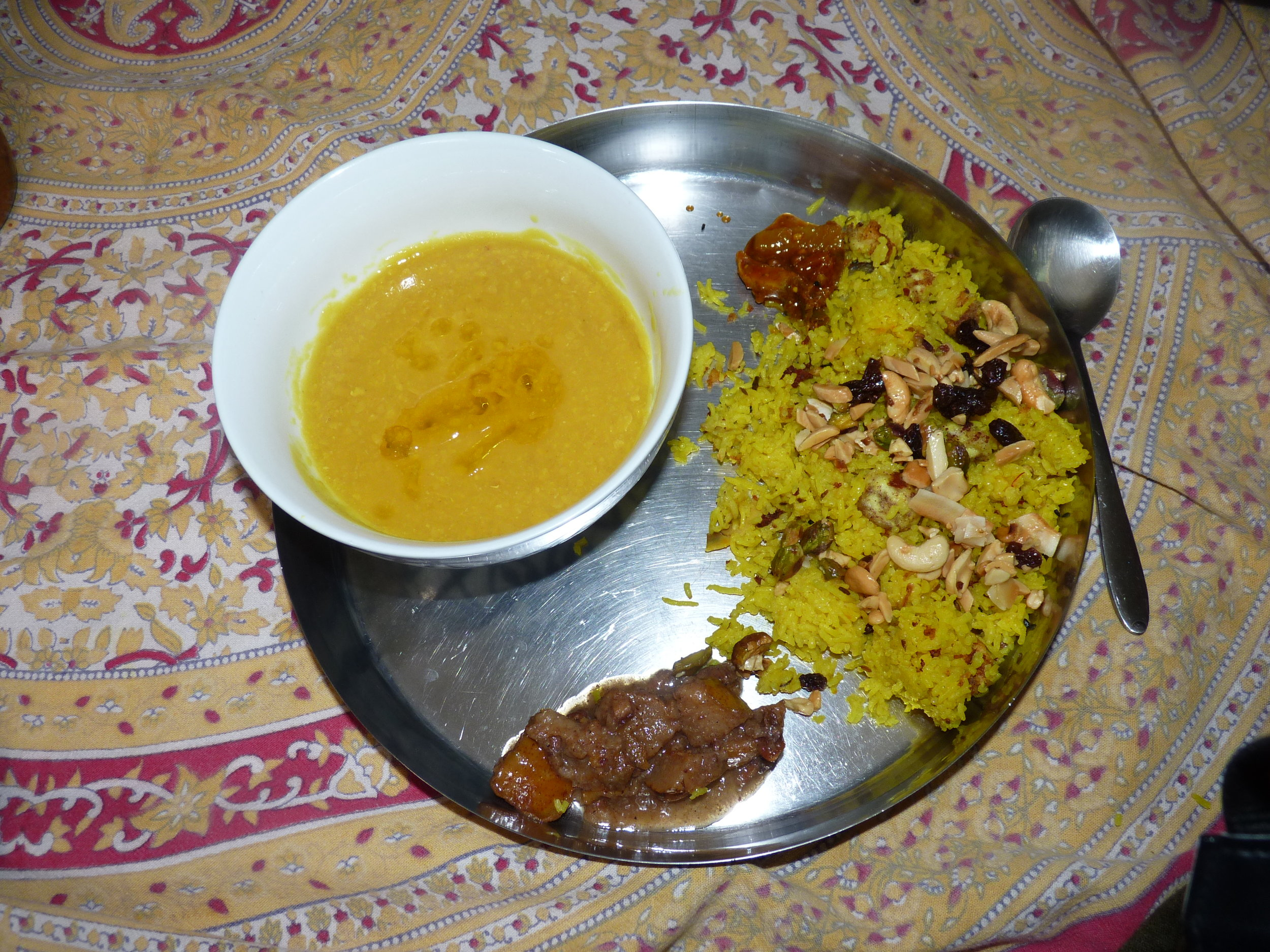 A traditional Ayurvedic meal featuring Royal Rice