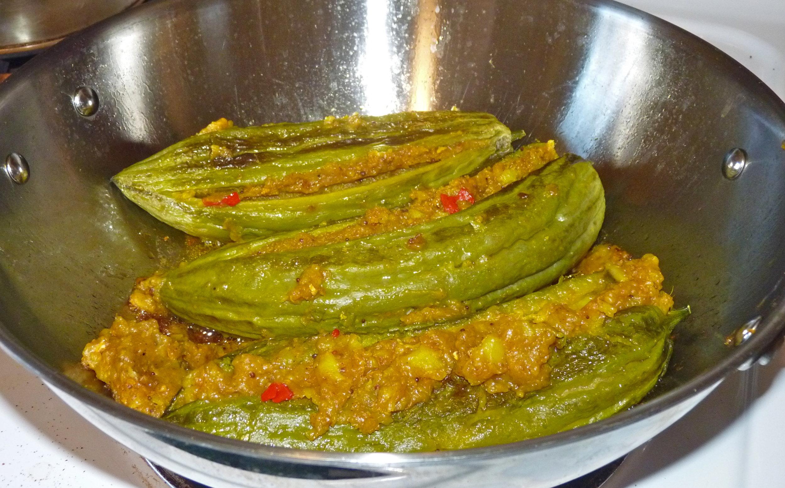 Ayurvedic Recipes_Bitter gourds stuffed with masala potato