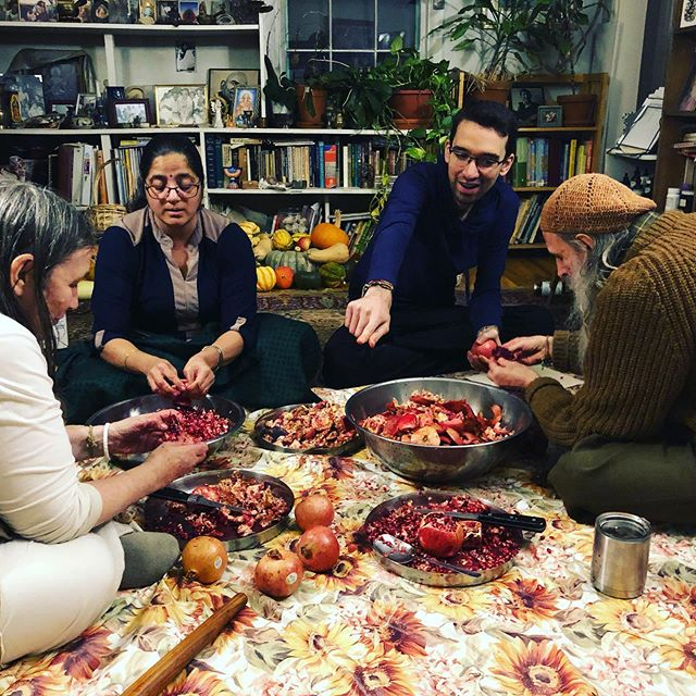 Pomegranate party at the Ashram. $5 at the door. 😉 . #ayurveda #alandiashram #pomegranate #juice