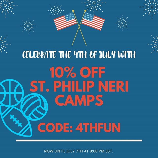 EXTRA, EXTRA READ ALL ABOUT IT! Matt Paul has a discount and we want to shout it! 🇺🇸 Come join us in celebrating the fourth with 10% off all SPN camps now until July 7th!