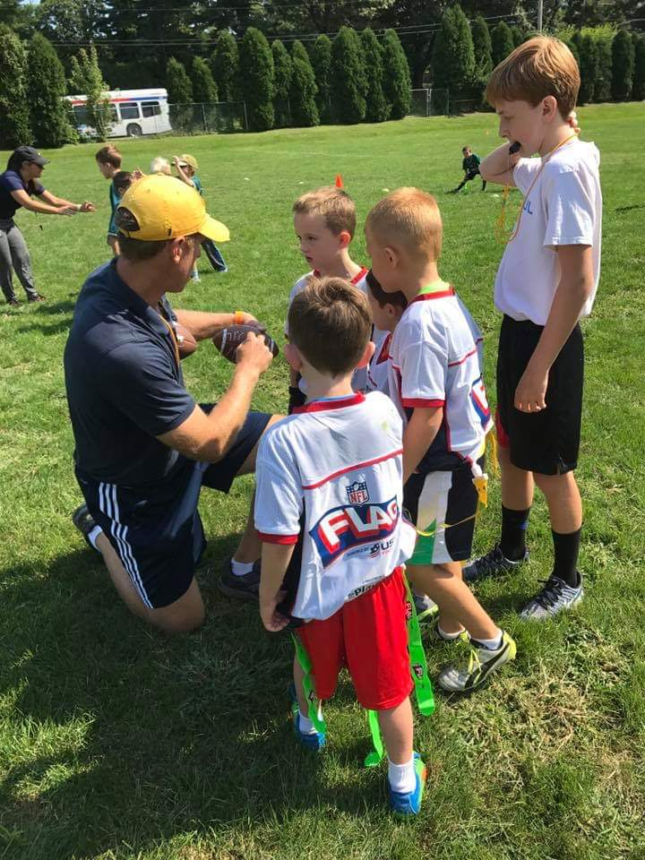 Sunday Morning/ Afternoon NFL Flag Football   Ages 5 - 10 (11 AM - 1 PM)   REGISTER HERE