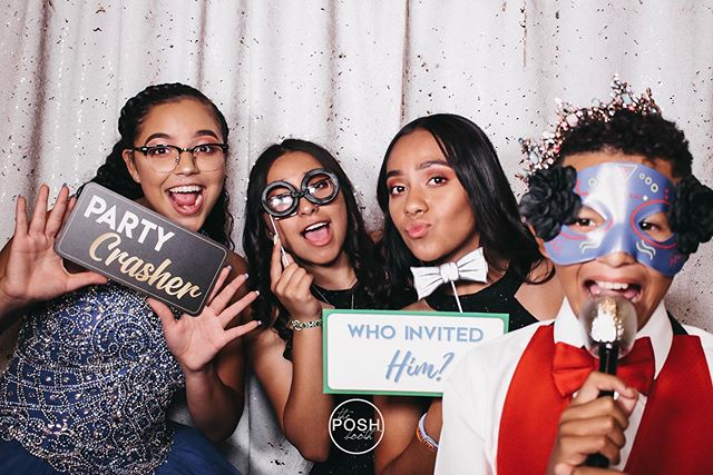 """Aryana had requested some custom prop signs and one of them was the """"Who invited him?"""" sign, perfectly matched the theme colors! 📸  #turlock #turlockweddings #modesto #modestoweddings #modestophotobooth #turlockphotobooth #turlocksmallbusiness #209bride #209wedding #209weddingphotographer #209partyplanner #mantecaweddings #manteca #theposhbooth"""