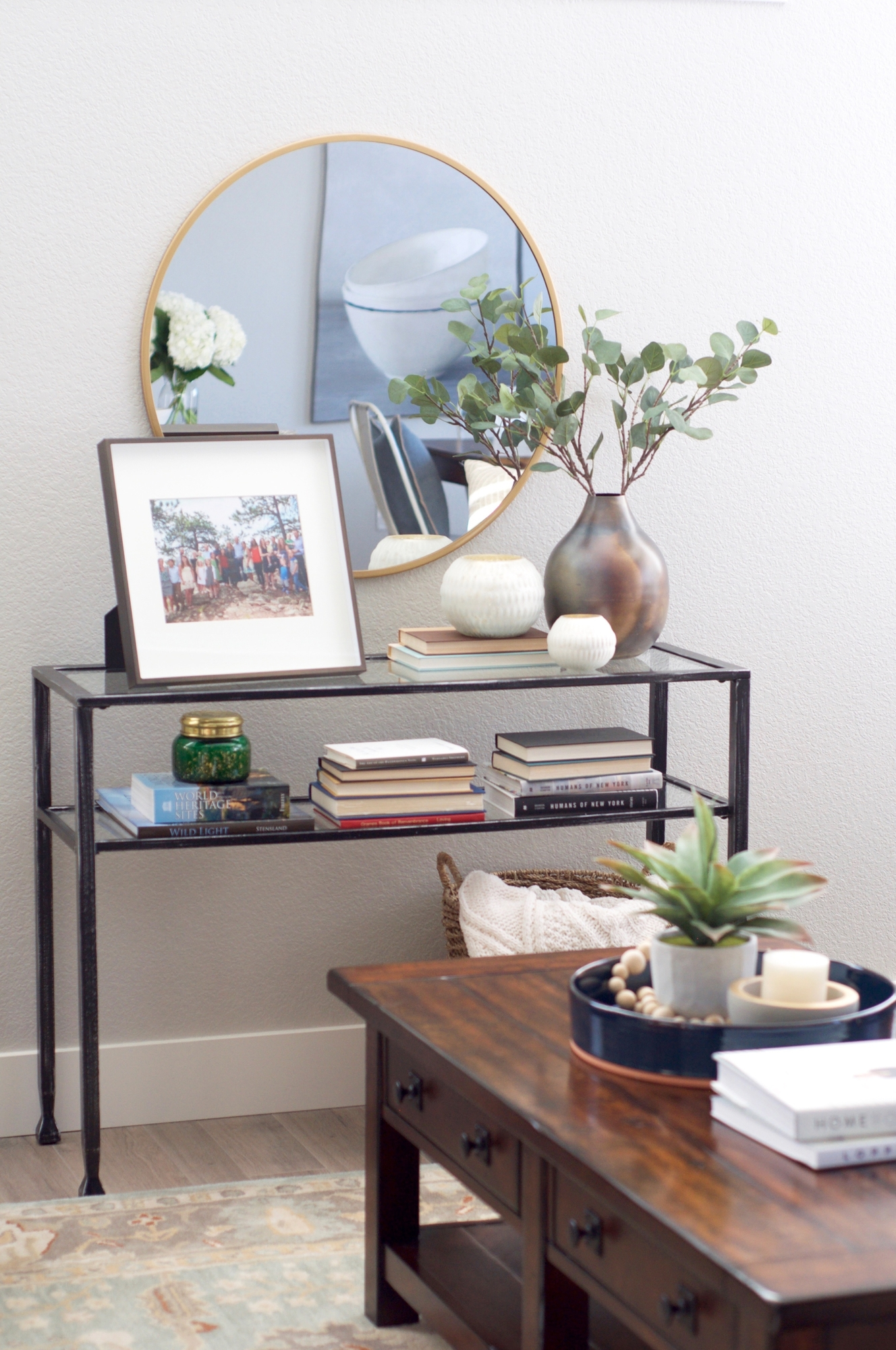 www.basilandtate.com | Green Mountain Project | Living Room | Townhome | Vignette