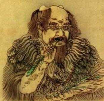 Illustration of the Divine Farmer, Shen Nong.