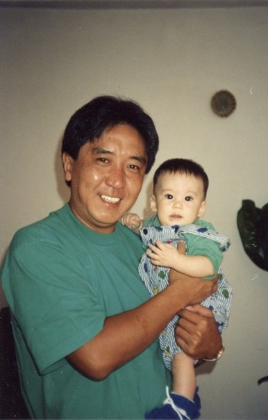 Grandfather and I, less than a year old.