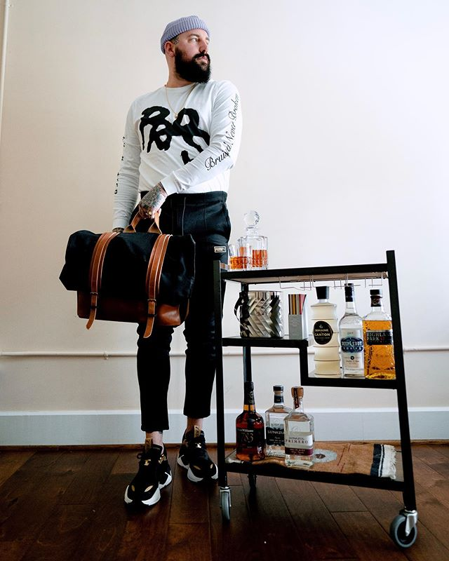 "When choosing a bar cart for my new condo a custom @raisethebardesign was a done deal. In just a couple of chats & sketches and in less than a month this gorgeous handmade cart was at my door ready to be stocked up and serving cocktails to my house guests. Use code ""CHADISRAD20"" for 20% off your own bar cart. SWIPE to see more details of the cart. #raisethebardesign #barcart #custom #handmade 📸: @dvrkroom"