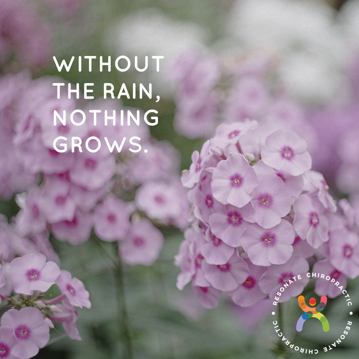 Without the rain, nothing grows.