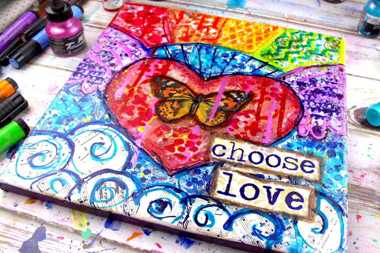 Rainbow Collage Painting