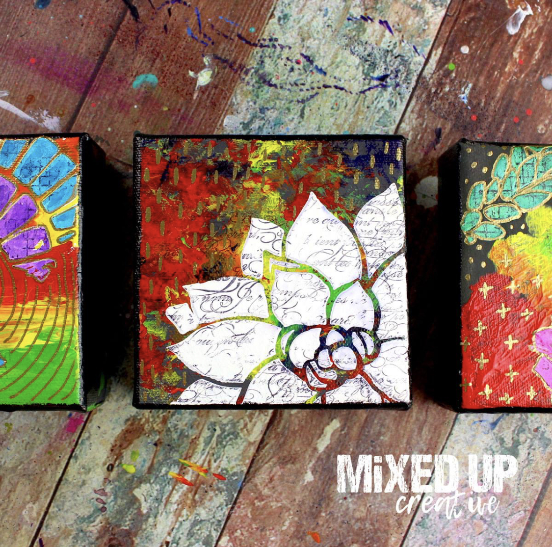 nicole austin mixed media canvas