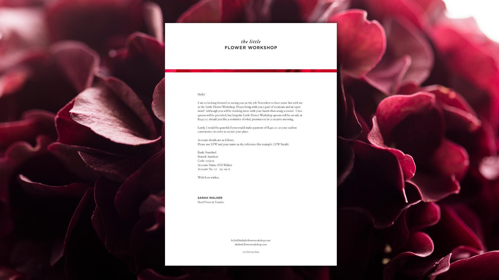 The-Little-Flower-Workshop-Letterhead-Designed-By-ALSO-Agency
