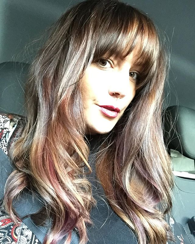 New hair for me ☺️ thanks @__louisexxo for fitting me in short notice. #fringe #copper #purple #darkroots #longhair #newlook #autumnhair