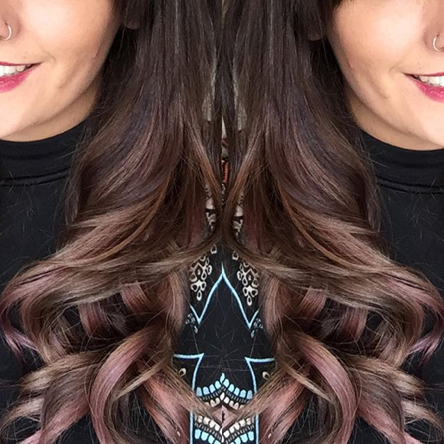 #newcolour love it, every light I go into it looks different 😊 #autumnhair #copper #purple