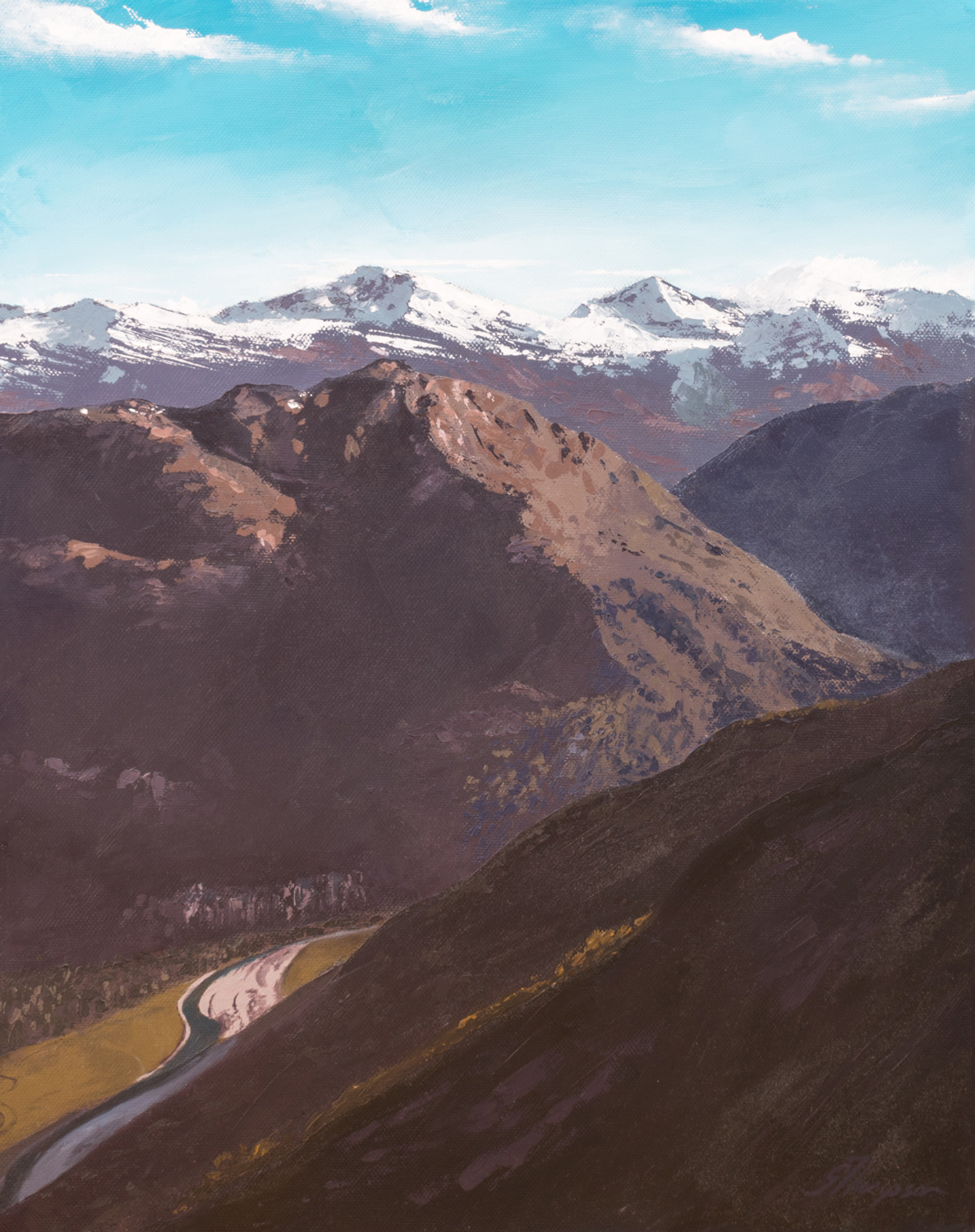 Late Sun on the Alps - SOLD