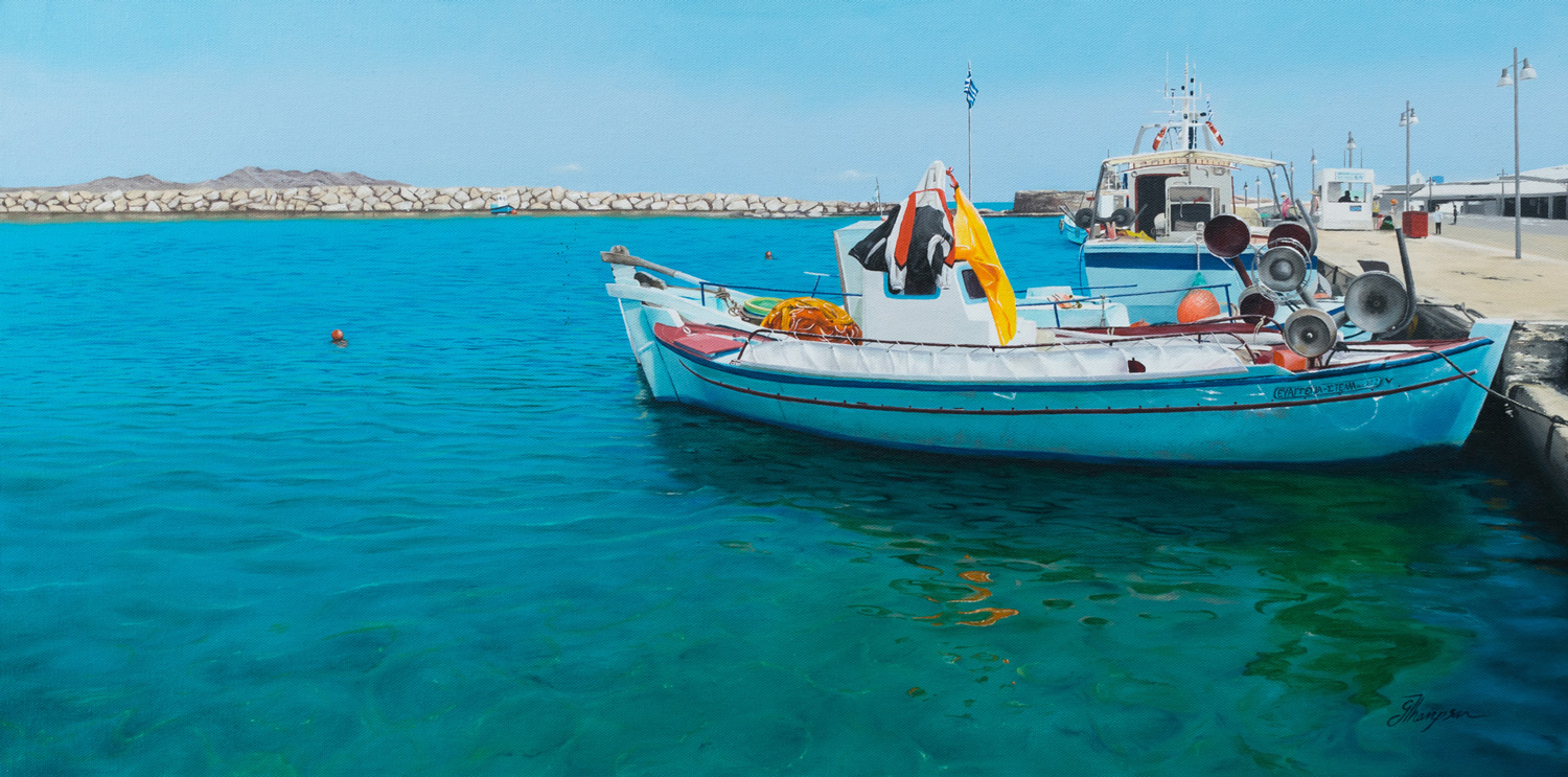 Paros Harbour - Private Collection